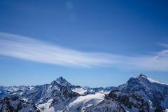 La mayoría del landsacpe hermoso de la nieve Fotografía de archivo