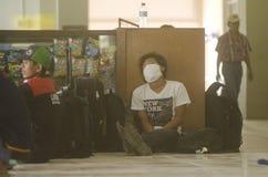 LA MAYORÍA VOLCÁNICA GLOBAL DEL RIESGO ESTÁ EN INDONESIA Foto de archivo libre de regalías