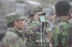 LA MAYORÍA VOLCÁNICA GLOBAL DEL RIESGO ESTÁ EN INDONESIA Fotos de archivo