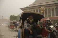 LA MAYORÍA VOLCÁNICA GLOBAL DEL RIESGO ESTÁ EN INDONESIA Fotos de archivo libres de regalías
