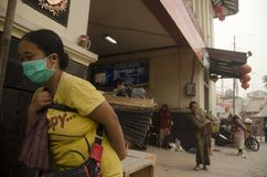 LA MAYORÍA VOLCÁNICA GLOBAL DEL RIESGO ESTÁ EN INDONESIA Fotografía de archivo