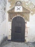 La mazmorra de los hombres en el castillo de Elmina, Ghana Imagenes de archivo