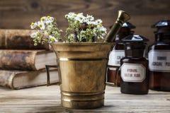 La médecine, les herbes et les médecines naturelles antiques Photos libres de droits