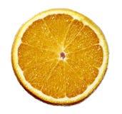 La media fruta anaranjada cortó el aislante en el fondo blanco imagen de archivo libre de regalías