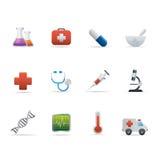 La medicina 02 e Healt si preoccupano le icone Fotografie Stock