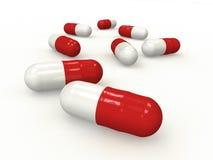 La medicina encapsula f1s Imagen de archivo libre de regalías