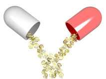 La medicina es dinero Ilustración del Vector