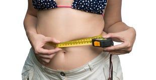 La medida de cintura Imagen de archivo