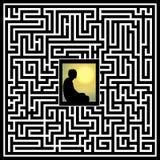La meditazione risolve i problemi complessi illustrazione di stock