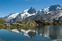 La Meije  - French alpes Stock Photo