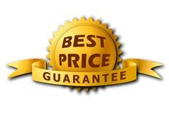 La meilleure étiquette de Priceâs dans la couleur d'or avec l'ombre Photographie stock libre de droits