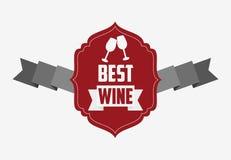 La meilleure conception de vin Image libre de droits