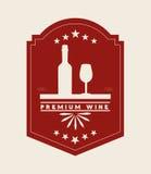 La meilleure conception de vin Image stock