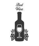 La meilleure conception de vin Photo stock