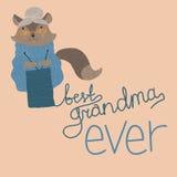 La meilleure couleur de grand-maman illustration stock
