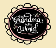 La meilleure grand-maman dans l'emblème du monde Photos libres de droits