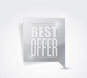 La meilleure illustration de signe de vente d'offre Photo stock