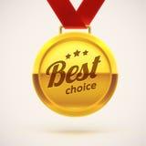 La meilleure médaille d'or bien choisie ENV 10 Photographie stock libre de droits
