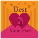 La meilleure maman jamais, jour international du ` s de femmes Jour heureux du `s de mère Illustration de vecteur Images stock