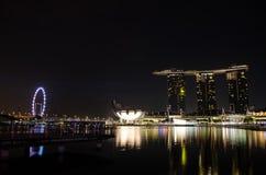 Nuit de baie de marina photographie stock