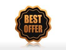 La meilleure offre Image stock