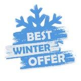 La meilleure offre d'hiver Image libre de droits