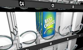 La meilleure option bien choisie de produit de distributeur automatique de casse-croûte Image stock