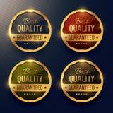 la meilleure qualité a garanti le label de la meilleure qualité d'or et badges le DES de vecteur Photos stock