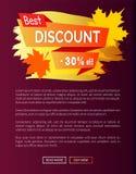 La meilleure remise Autumn Sale - 30 outre de l'affiche d'annonce illustration de vecteur