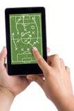 La meilleure tactique sur le PC de tablette tactile images libres de droits