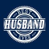 La meilleure typographie de T-shirt de mari jamais, illustration de vecteur Image libre de droits
