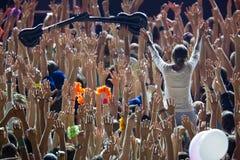 La meilleure vue au concert Images libres de droits