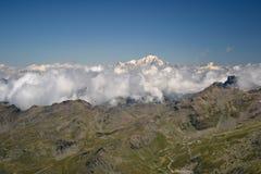 La meilleure vue au-dessus de Mont Blanc Photographie stock libre de droits