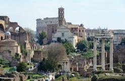 La meilleure vue de Roman Forum antique de la plate-forme d'observation de Capitol Hill La plate-forme d'observation est située d image stock