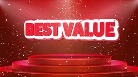 La mejor animación del lazo del confeti del podio de la etapa de la animación del texto del valor libre illustration