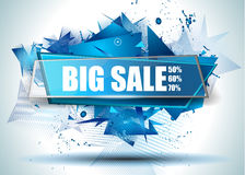La mejor bandera del web de Discoount de la venta grande a tiempo para las promociones de ventas de la tienda libre illustration