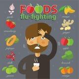La mejor comida para luchar frío y gripe Imagen de archivo