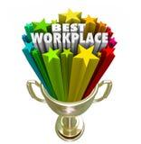 La mejor empresa de negocios Job Career Trophy del patrón del lugar de trabajo Fotos de archivo libres de regalías