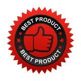 La mejor escritura de la etiqueta del producto stock de ilustración