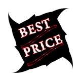 La mejor escritura de la etiqueta de precio Fotos de archivo libres de regalías