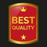 La mejor escritura de la etiqueta de la calidad Imágenes de archivo libres de regalías