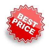 La mejor escritura de la etiqueta de precio para la promoción Fotos de archivo