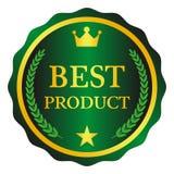 La mejor etiqueta del producto en el fondo blanco Ilustración del vector Foto de archivo