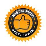 La mejor etiqueta del servicio ilustración del vector