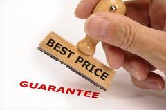 La mejor garantía del precio Fotografía de archivo libre de regalías