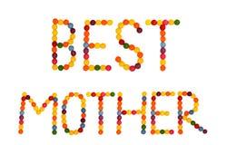 La mejor madre Imagen de archivo libre de regalías
