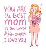 La mejor mamá stock de ilustración