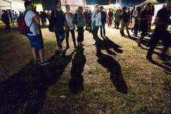 La mejor muchedumbre del festival del Fest fotos de archivo
