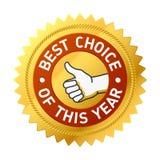 La mejor opción de esta escritura de la etiqueta del año. Vector. Fotos de archivo libres de regalías