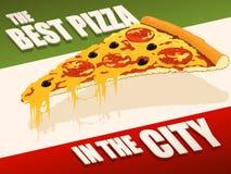 La mejor pizza en ciudad Fotografía de archivo libre de regalías